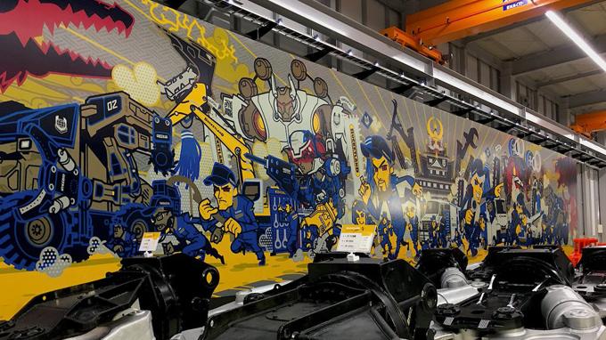 タグチ工業 巨大壁画